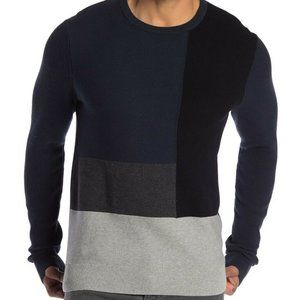 14th & Union Large Long Sleeve Colorblock Sweater